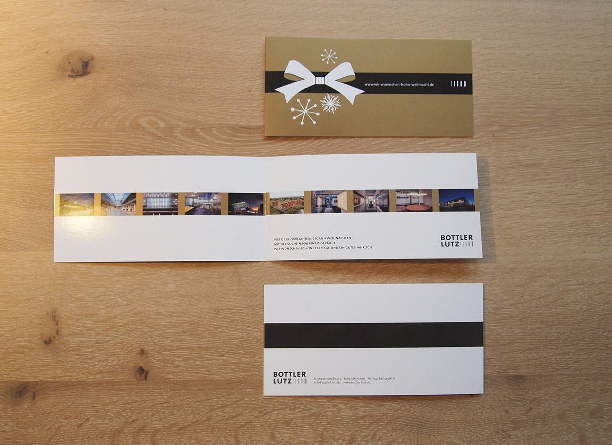 Weihnachtskarte Design München