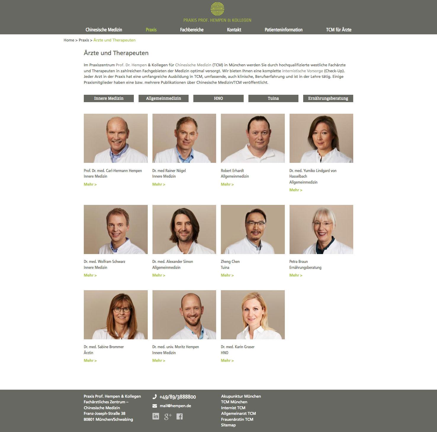 Webseite Arzt Design