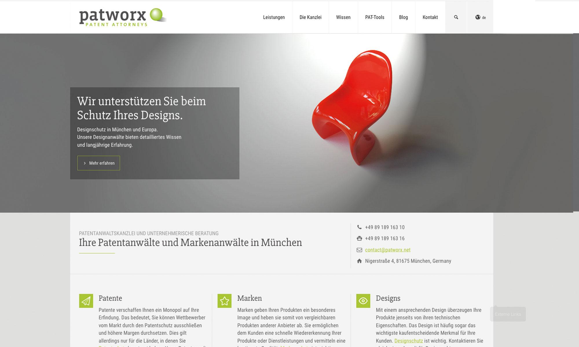 Webseite Patentanwalt