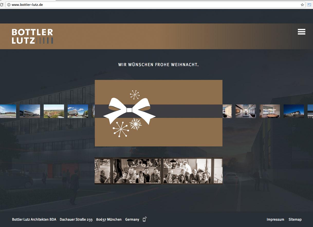 Weihnachtskarten Design Webseite