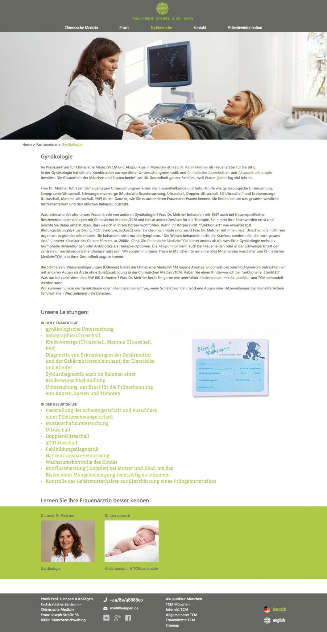 Internetseite Arzt Webdesign für Ärzte