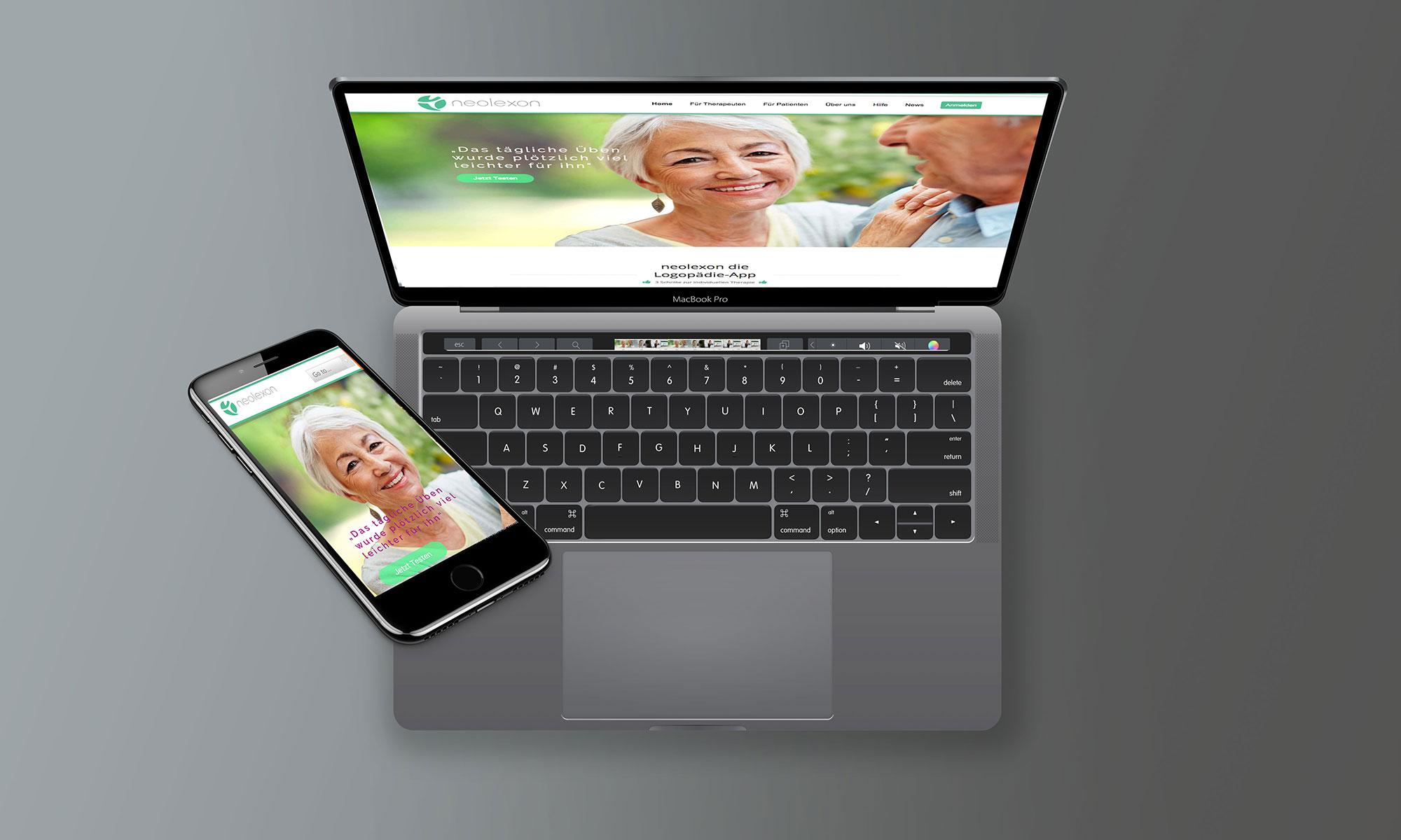 Webseite App Design