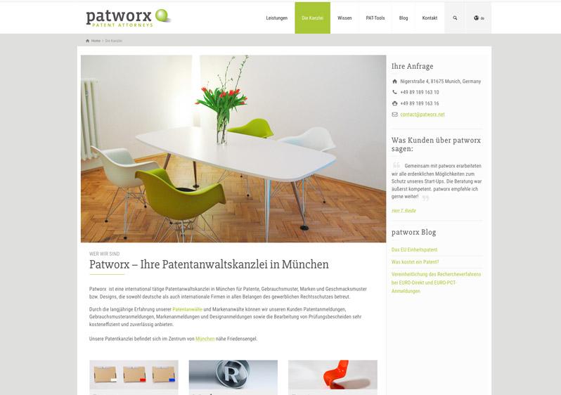 Webdesign Patentanwalskanzleii München
