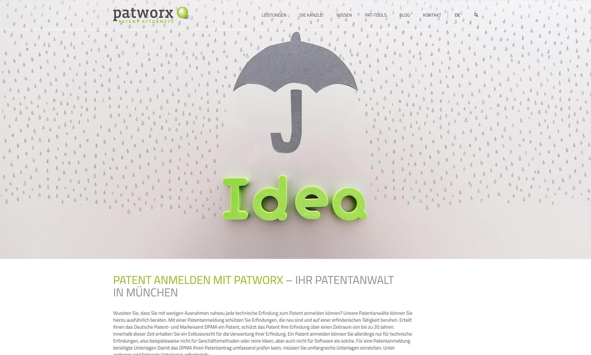 Webdesign Patentanwälte
