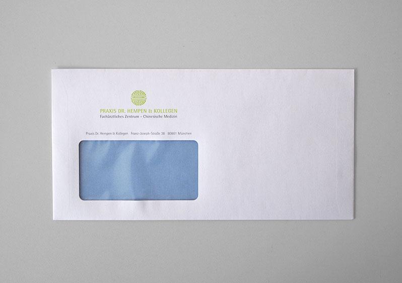 Kuvert Geschäftsausstattung Arzt