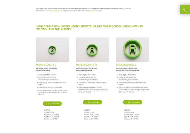 Webdesign Patentanwalt