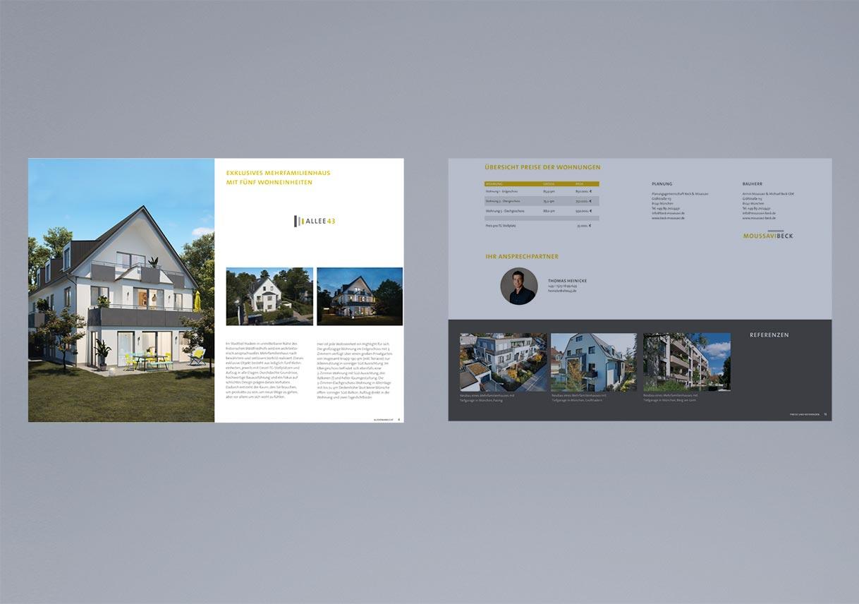 Broschüren Design Immobilien